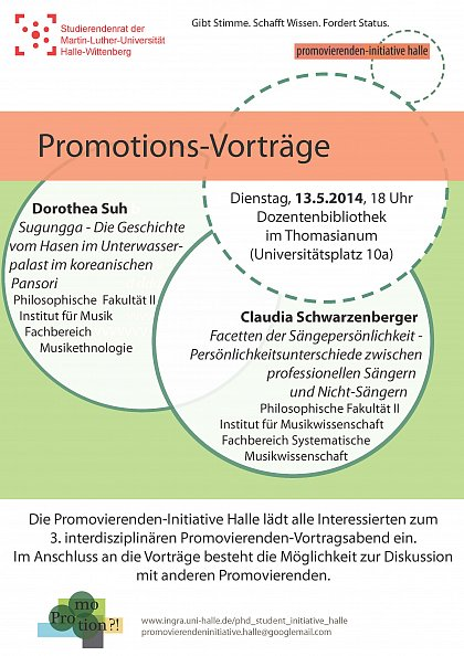 Promotionsvortr�ge 13. Mai 2014